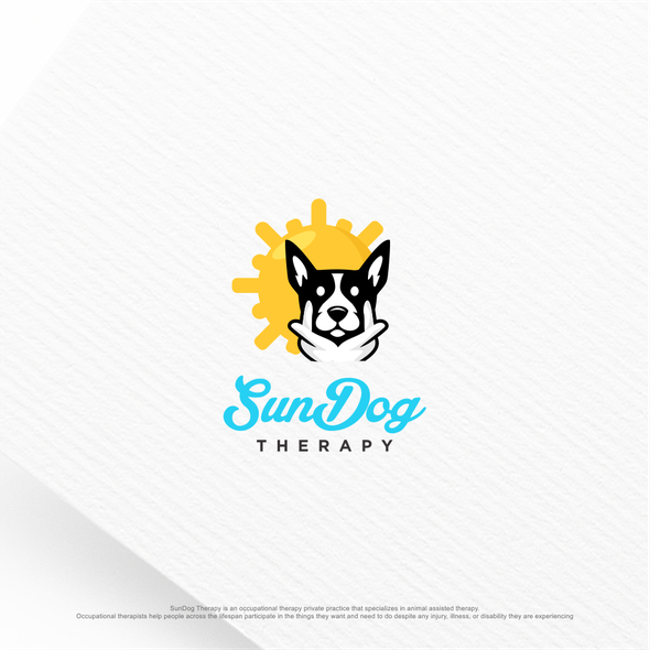 Private logo with the title 'SunDog Therapy needs a modern and unique logo with a dog'