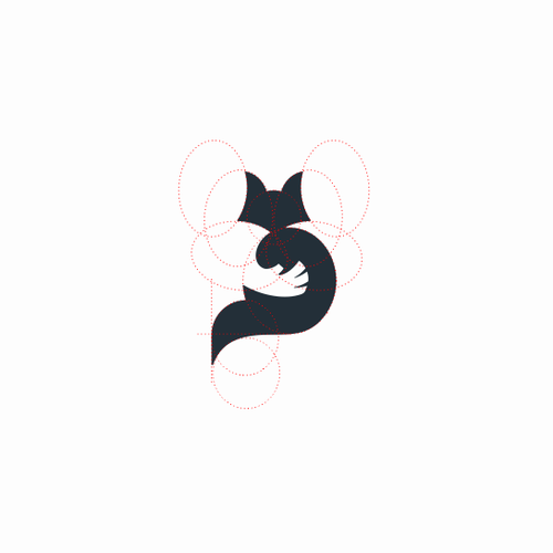 Grid logo with the title 'Fox Hollow Boarding - Logo concept'
