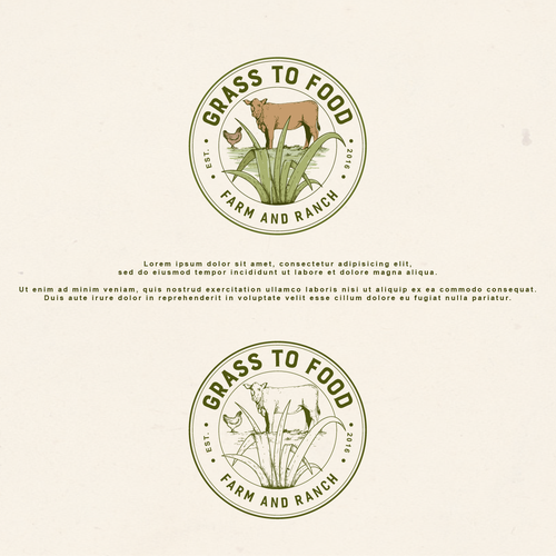 Grass logo with the title 'Grass to Food Logo'