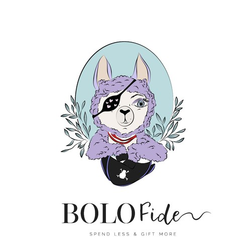 Lamb design with the title 'Handdrawn animal logo for BOLOFide'