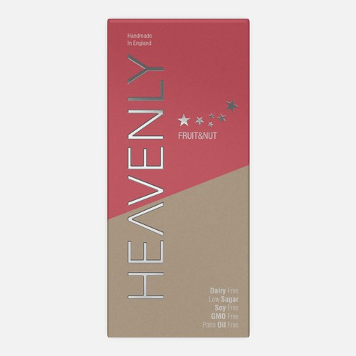 Stand-out design with the title 'Heavenly Chocolate packaging'