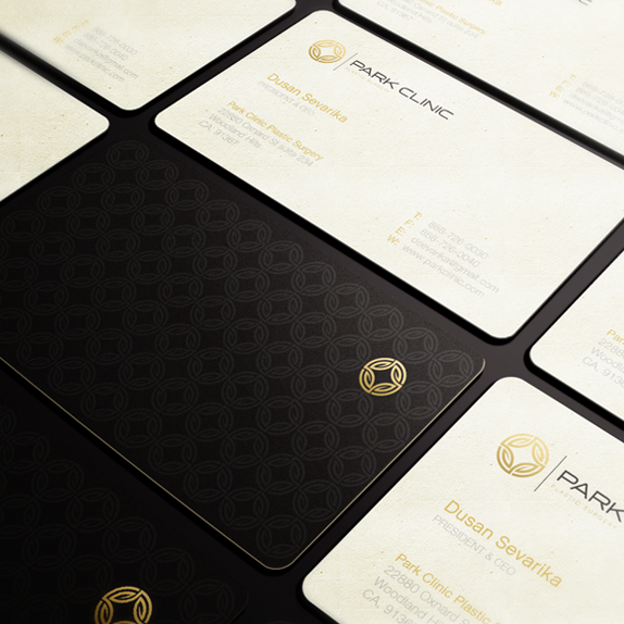 Pattern brand with the title 'Brand Identity for Park Clinic'