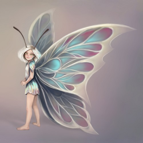 Fantasy artwork with the title 'Fantasy children's book illustration'