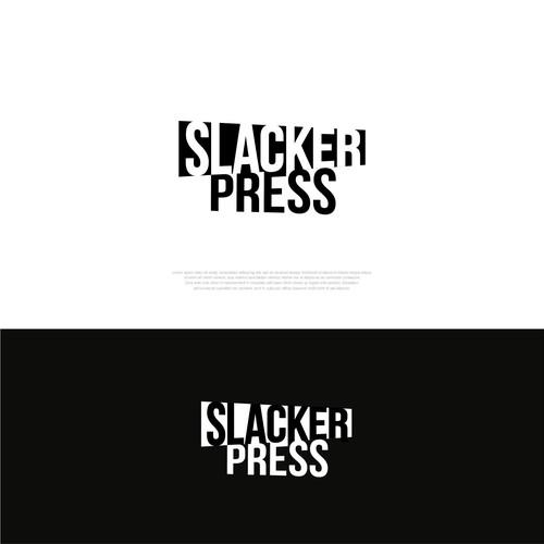 Press design with the title 'Slacker press'