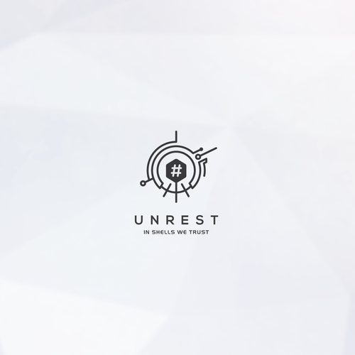 Black magic logo with the title 'Unrest technology logo '
