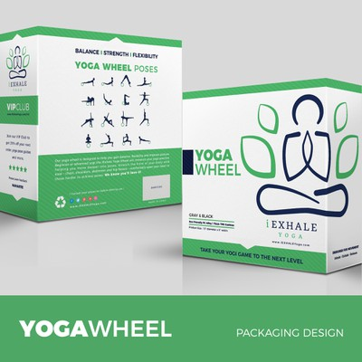 Yoga Wheel Packaging design