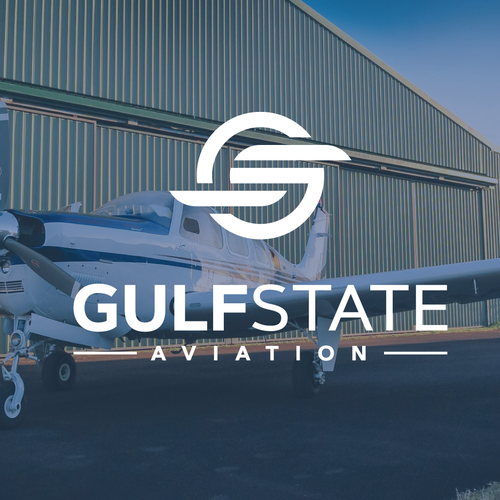 Propeller design with the title 'Logo design for Gulf State Aviation'