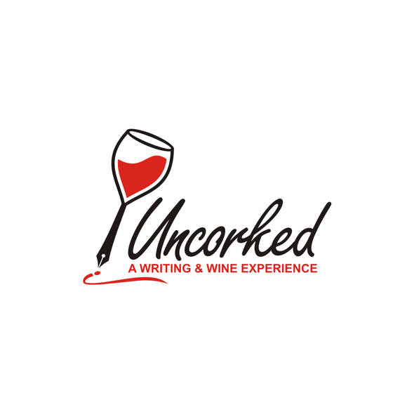 Writing design with the title 'UNCORKED LOGO'
