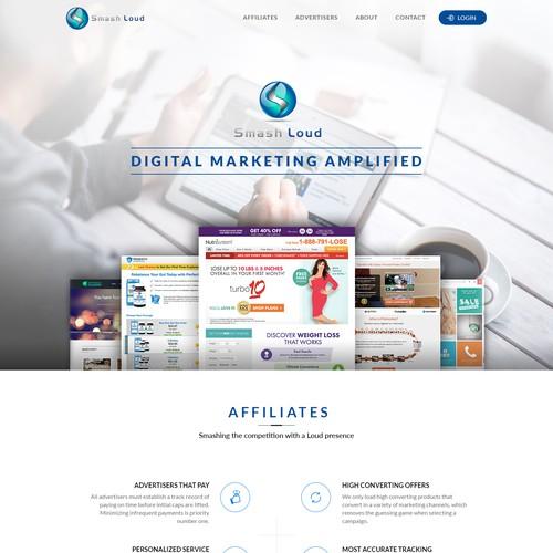 Digital website with the title 'Smash Loud, LLC'