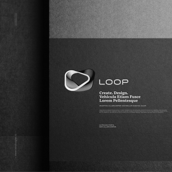 Disruptive design with the title 'Organic/geometrical mark for creative agency'
