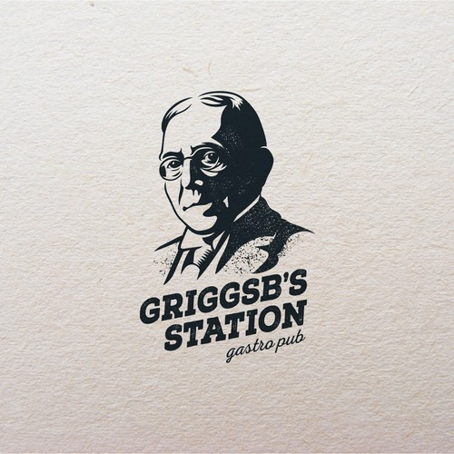 Father logo with the title 'Griggsb's Station gastro pub'