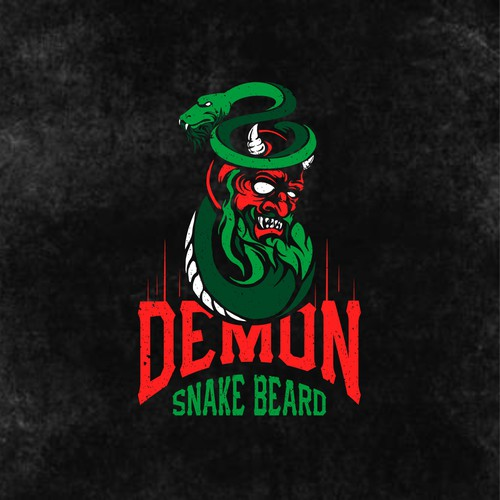 Hardcore logo with the title 'Demon Snake Beard'