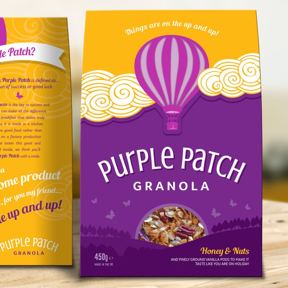 Honey packaging with the title 'Granola Creative Pack Design'
