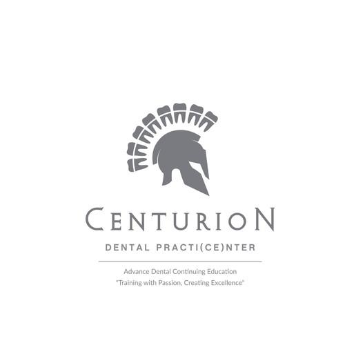 Spartan design with the title 'Centurion Dental Logo Design'