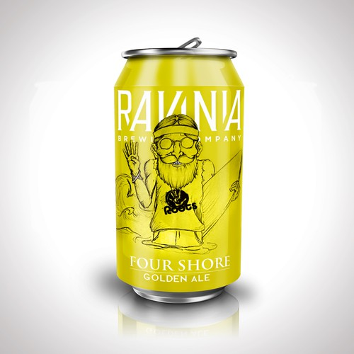 Unique illustration with the title 'Beer can design for Ravina'