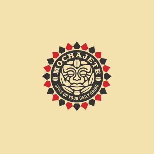 Aztec design with the title 'Logo for coffee brand'