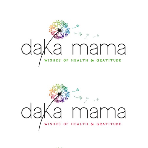 Rainbow design with the title 'Logo design for Daka Mama'