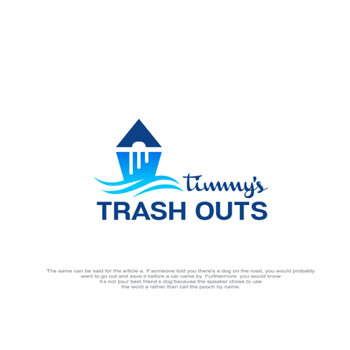 Garbage and trash logo with the title 'trash outs'