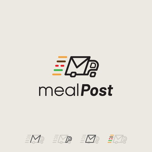 Meal logo with the title 'Mealpost'