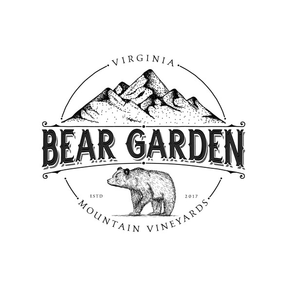 Virginia design with the title 'Vintage logo for vineyards in Virginia'
