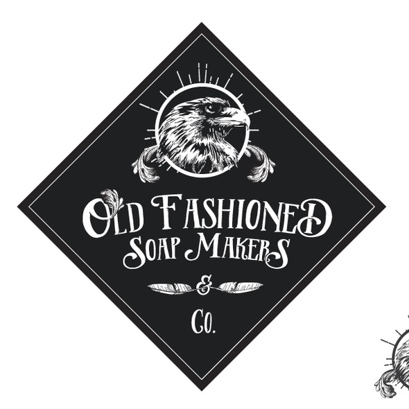 Old-fashioned design with the title 'logo for Old Fashioned Saop Makers'
