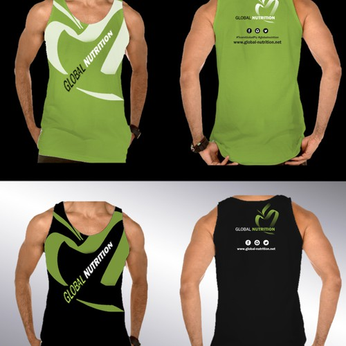 Gym t-shirt with the title 'Diseño para ropa y gorras'