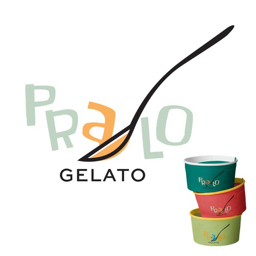 Gelato logo with the title 'this ice cream logo is STILL AVAILABLE'