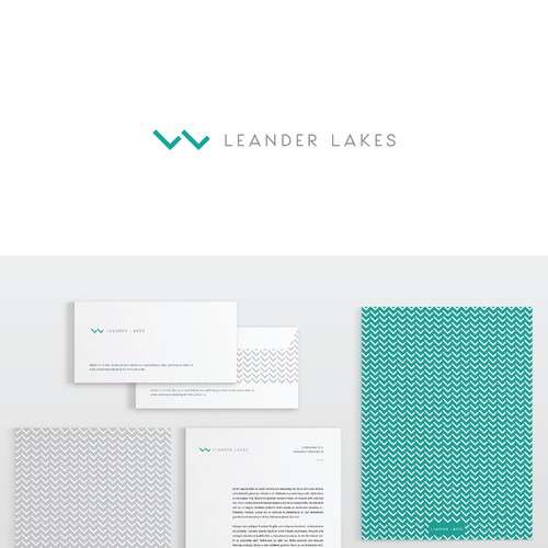 Water design with the title 'Bold and Magnetic logo and web design for a New Luxury Apartment Community'