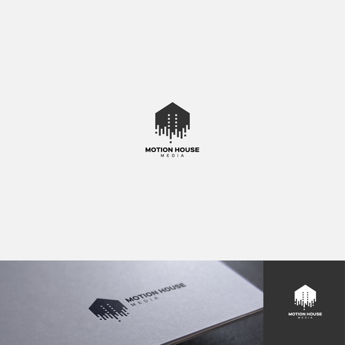 Pixel design with the title 'Clean, Modern Logo for Media Company'