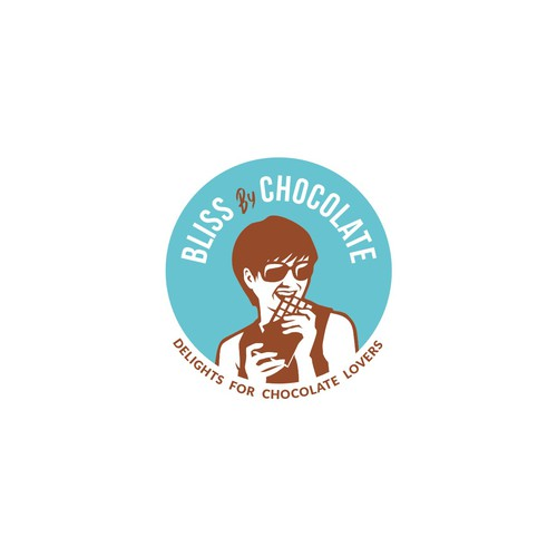 Lounge logo with the title 'Vintage logo for Bliss By Chocolate, A chocolate lounge.'