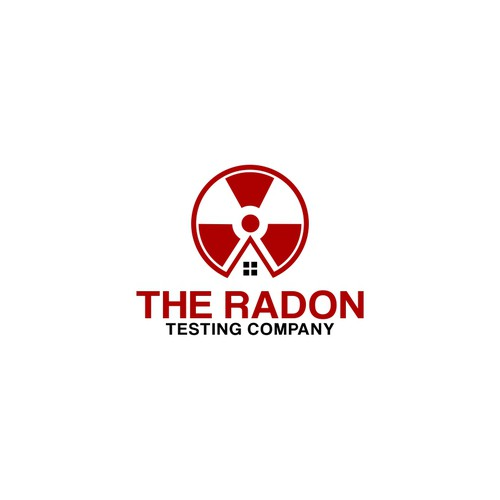 Danger logo with the title 'Design an eye-catching logo that suggests danger and alarm for The Radon Testing Company'