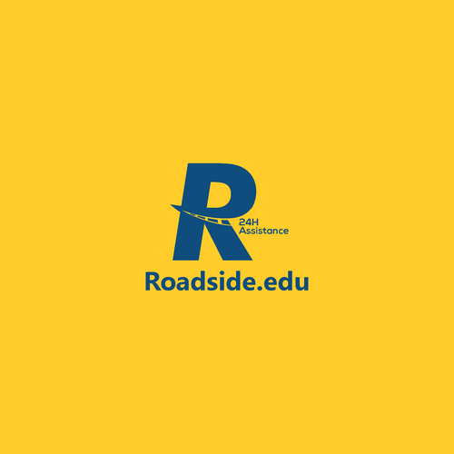 Emergency design with the title 'Logo Concept for Roadside'