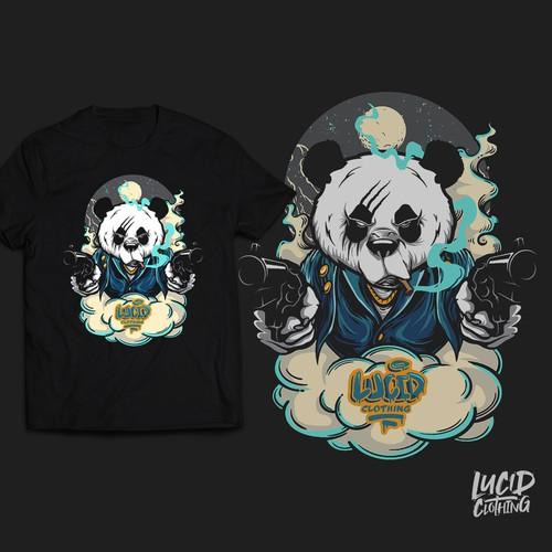 Mafia design with the title 'Mafia Panda T-shirt'