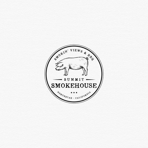 BBQ logo with the title 'Logo for Summit Smokehouse'