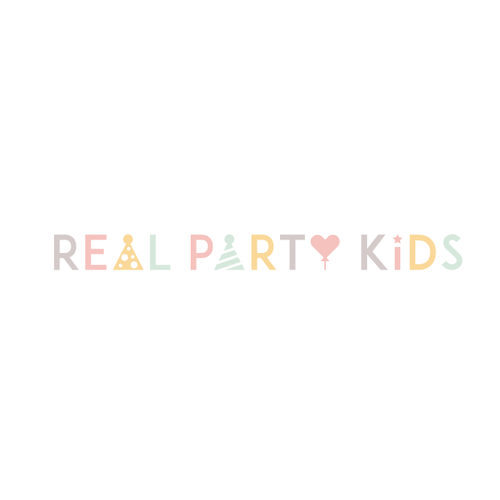 Kid design with the title 'Real Party Kids'