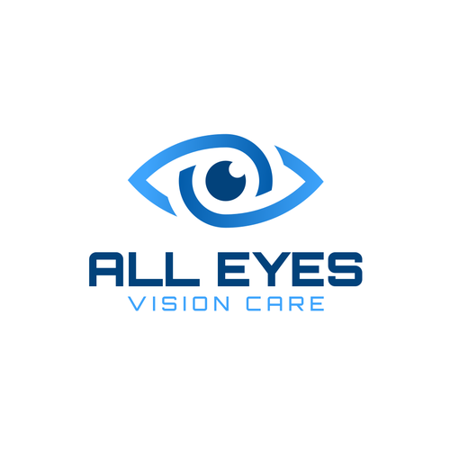 Optometry design with the title 'All Eyes Vision Care'