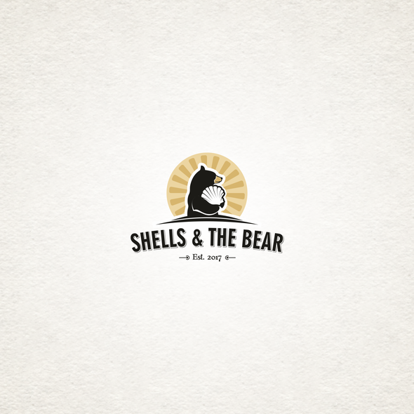Shell logo with the title 'Logo with a bear.'