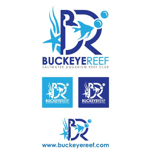 Underwater logo with the title 'Buckeye Reef'