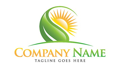 Sun logo with the title 'Nature Leaf'