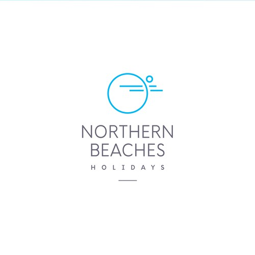 Holiday brand with the title 'Logo concept for Northern Beaches Holidays'