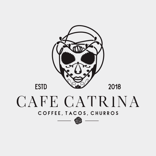 Sketchbook logo with the title 'Cafe Catrina'