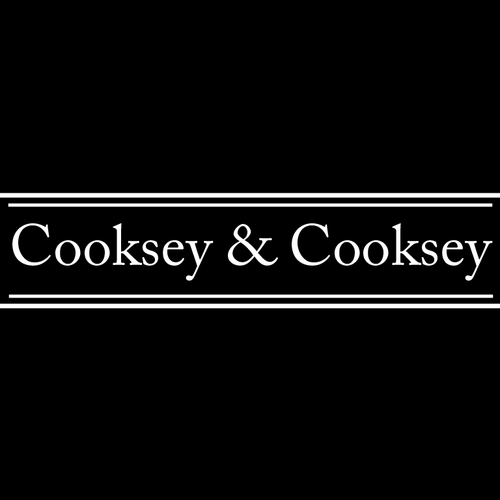 PC logo with the title 'Cooksey & Cooksey logo concept'