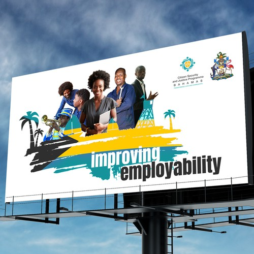 Government design with the title 'Bahamas Government Billboard'
