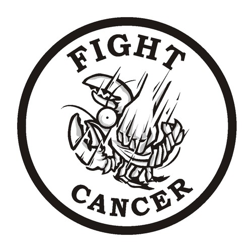 Badge illustration with the title 'Fight Cancer'