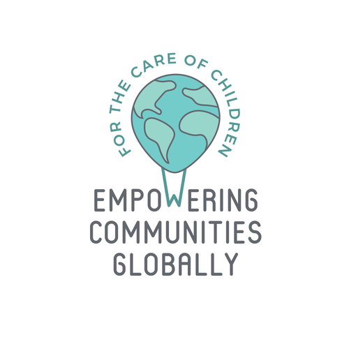 Aqua logo with the title 'Logo design for children's non-profit'
