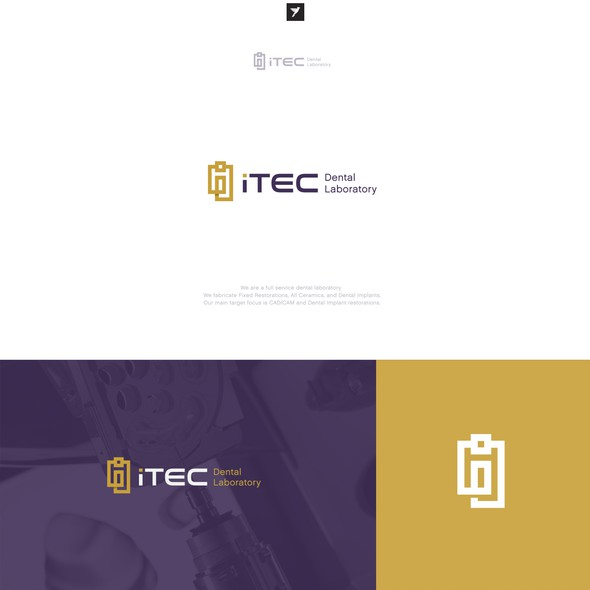 Square brand with the title 'Logo design for iTec Dental Laboratory'