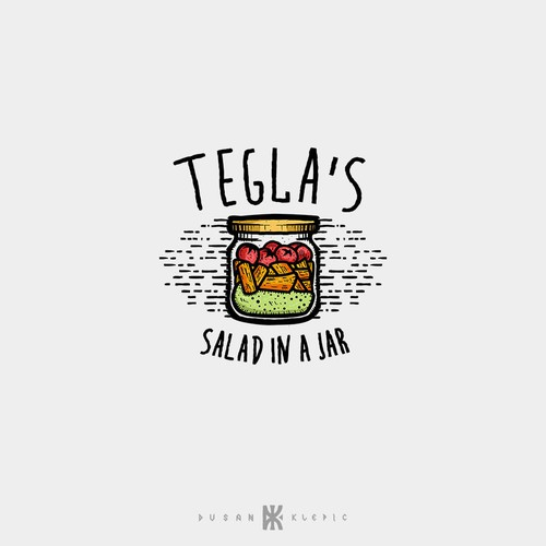 Food design with the title 'Tegla's Salad In A Jar'