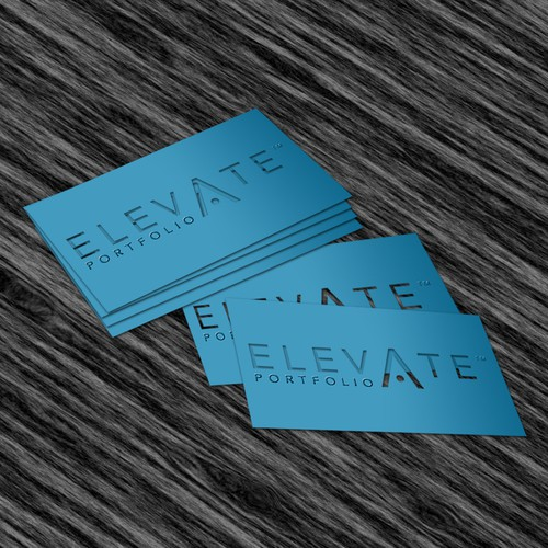 Elevate design with the title 'ELEVATE PORTFOLIO TM'