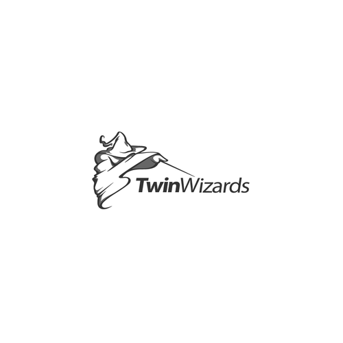 Black magic logo with the title 'TwinWizards'