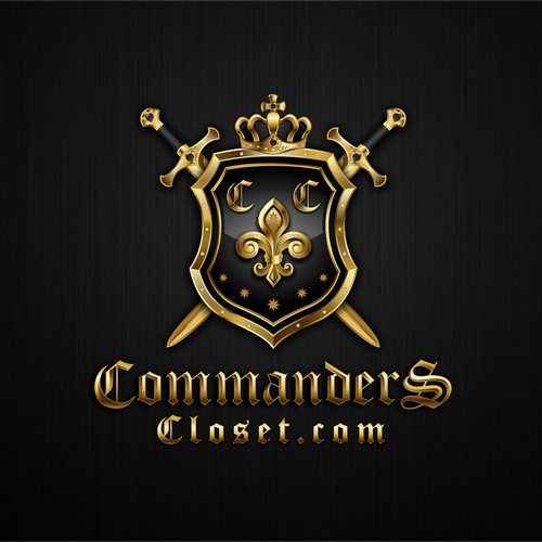 Crest logo with the title 'Commanders Closet'
